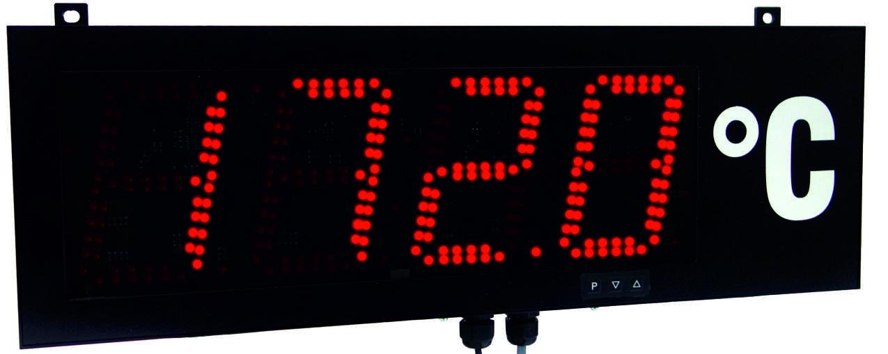Montwill Produkte: MG Digitale Grossanzeige zur Temperaturmessung mittels Pt100-Fühler - Auf Anfrage!