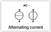 Alternating voltage / current