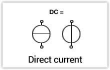 Direct voltage / Direct current